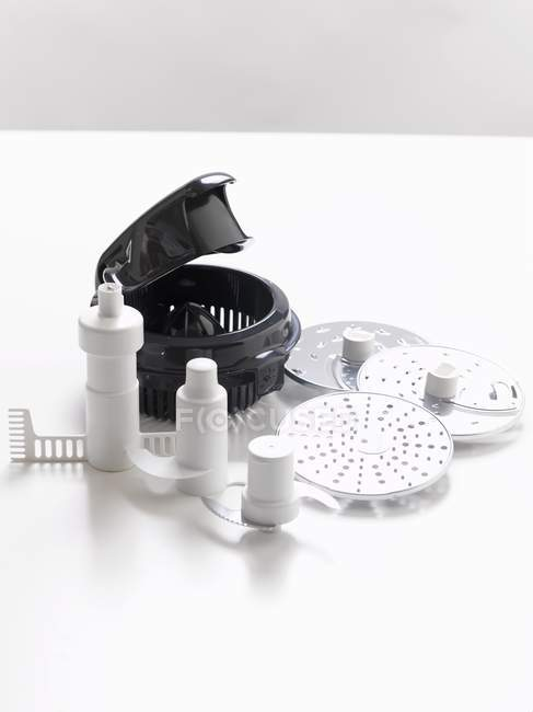 Повышенные представление различных аксессуаров для питания процессора — стоковое фото