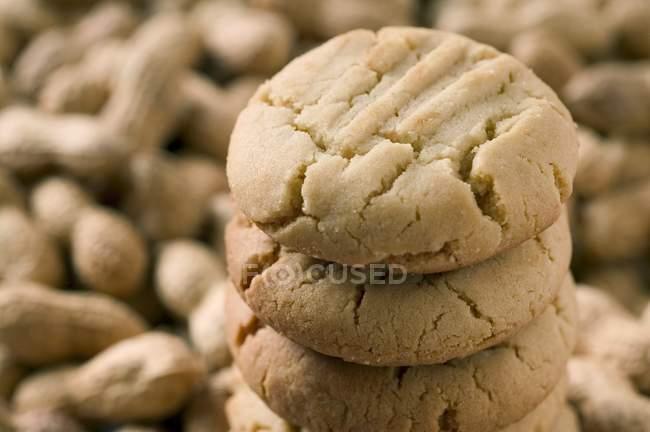 Galletas de mantequilla de maní - foto de stock
