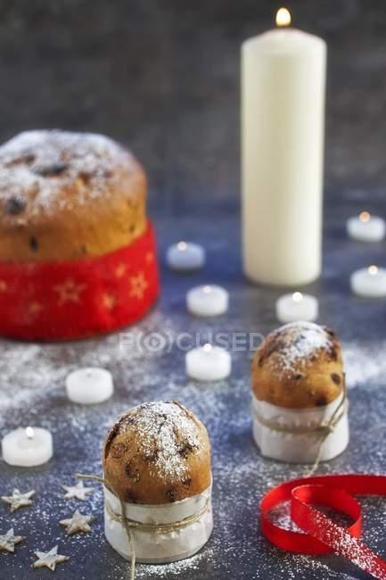 Итальянские рождественские торты — стоковое фото