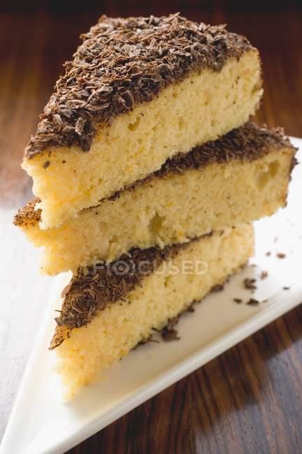 Три части миндального рикотта торт — стоковое фото