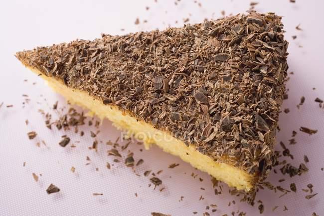 Кусочек миндаля рикотта торт — стоковое фото