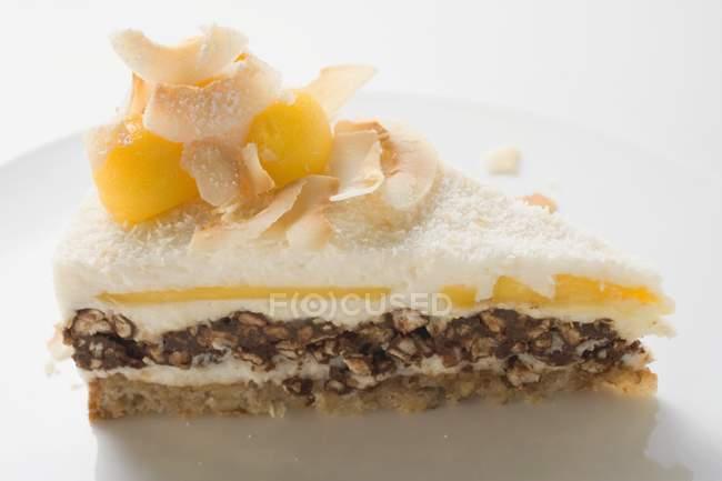 Кусок торта креольский — стоковое фото