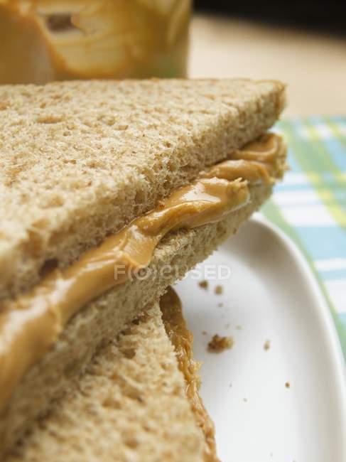 Арахісового масла бутерброд — стокове фото