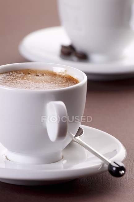 Taza de café negro - foto de stock