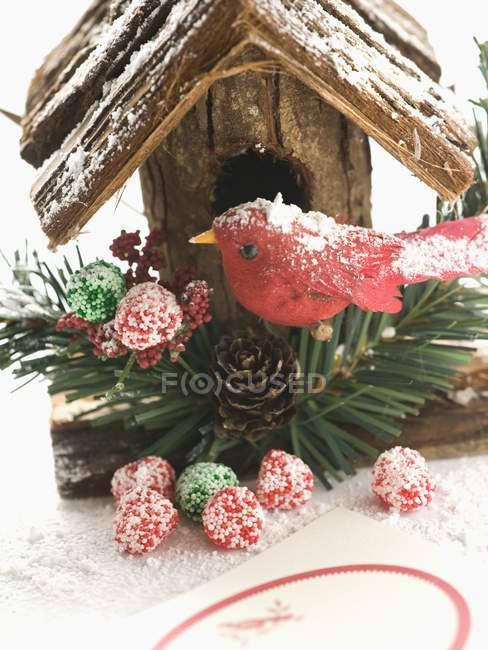 Bird house on white background — Stock Photo