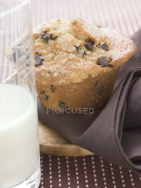 Кекс из шоколадной стружки — стоковое фото