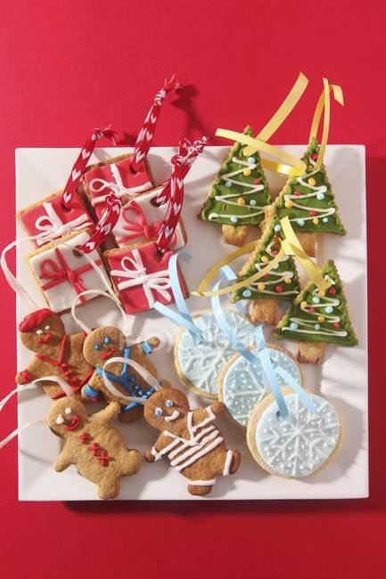 Galletas de Navidad varios - foto de stock