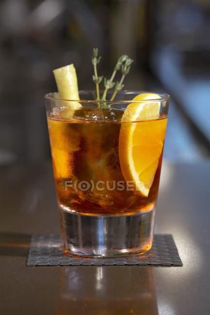 Negroni Sbagliato cocktail — Foto stock