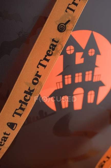 Decorazioni di Halloween con segno — Foto stock