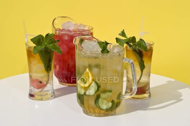 Limonate fresche e anguria punch — Foto stock