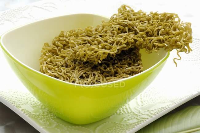 Tagliatelle di spinaci verdi — Foto stock