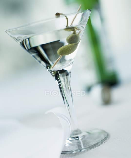Dry Martini in glass — Stock Photo