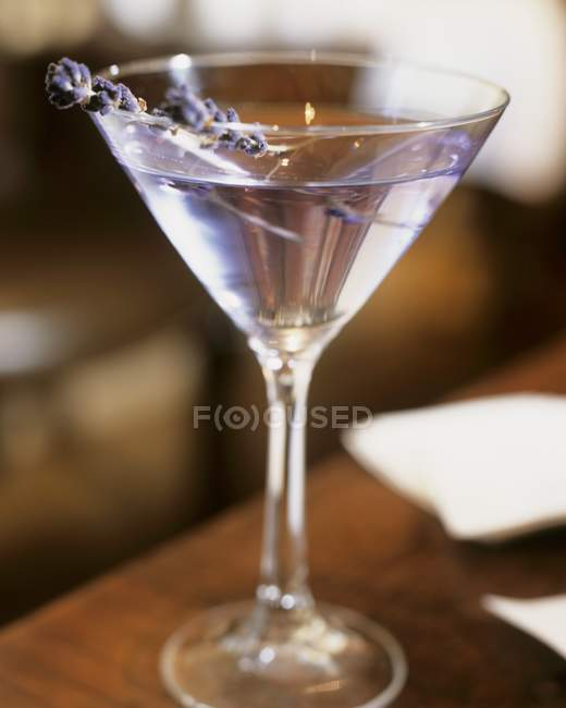 Alcohol Cocktail with lavender — Stock Photo