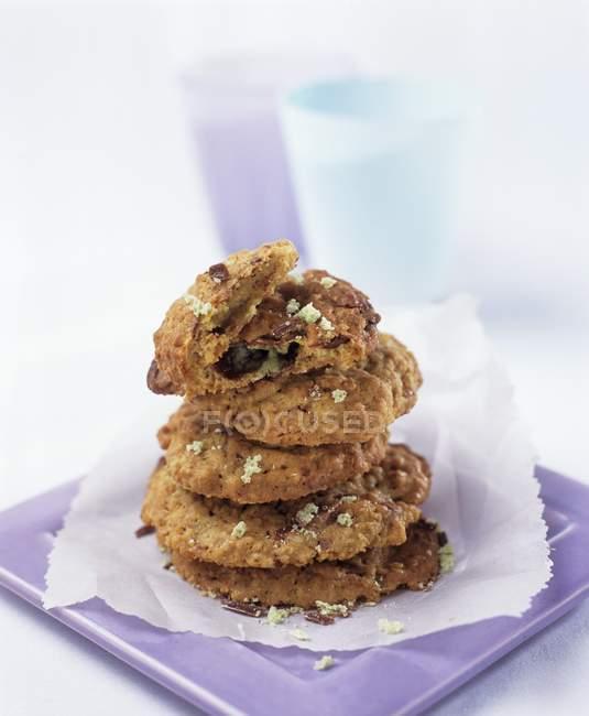 Cookies aux pépites de chocolat — Photo de stock