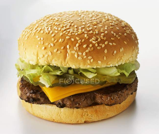 Classic fast food Cheeseburger — Stock Photo