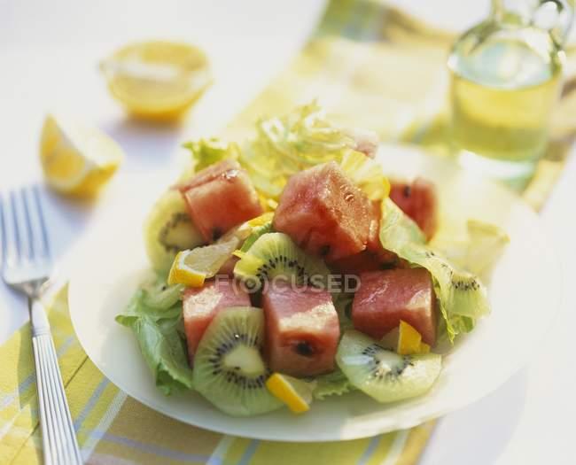 Porción de sandía y kiwi sald - foto de stock