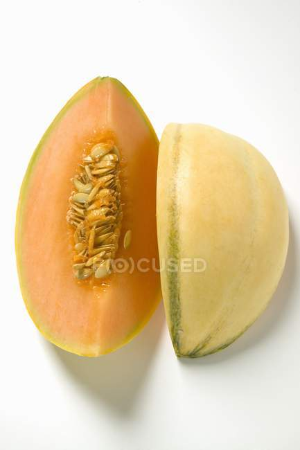 Fatias frescas de melão — Fotografia de Stock