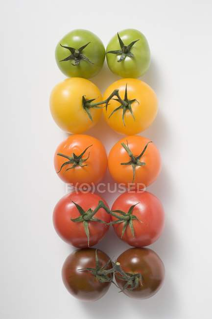 Помідори-чері різні кольори — стокове фото