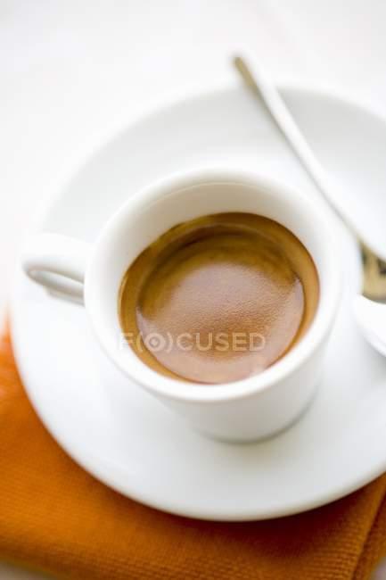 White cup of espresso — Stock Photo
