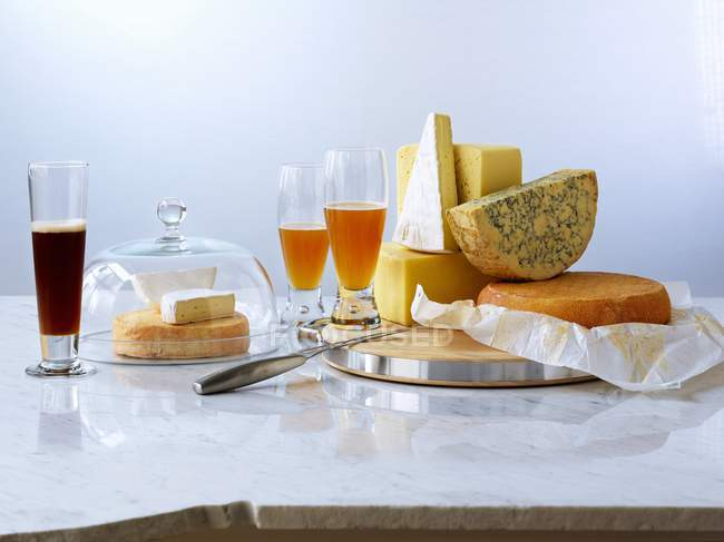 Various sort cheeses — Stock Photo