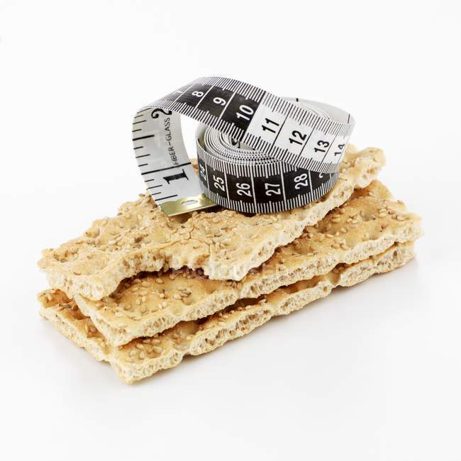 Crispbread з рулеткою — стокове фото