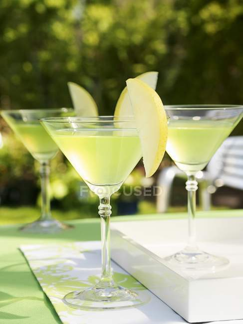 Apple Martinis on table — Stock Photo