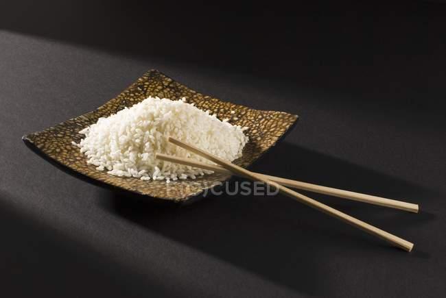 Mound of white rice — Stock Photo