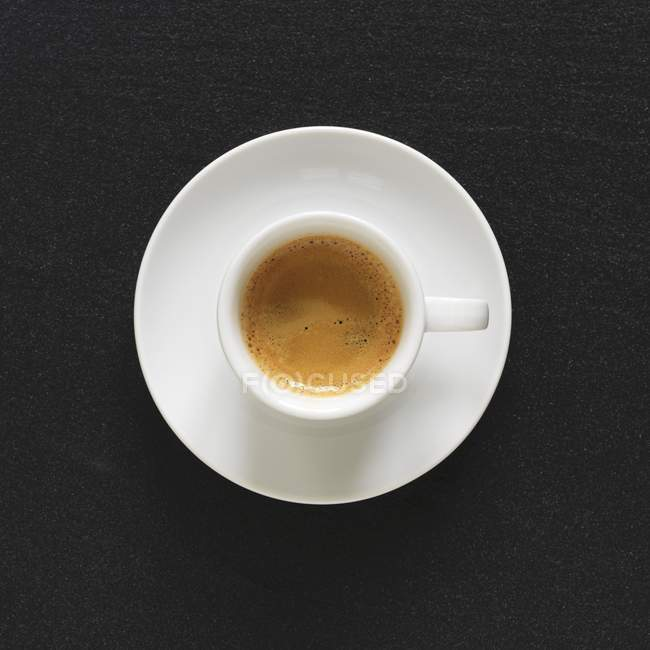 Cup of hot espresso — Stock Photo