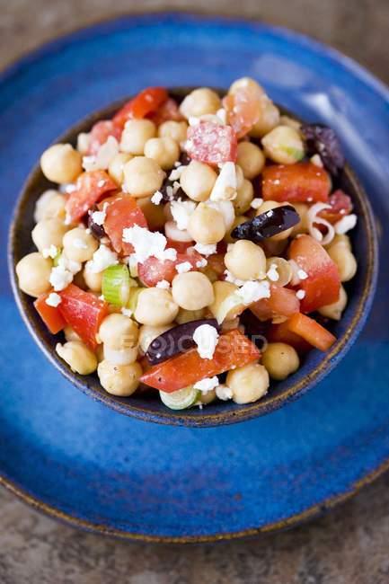 Insalata di ceci con olive — Foto stock