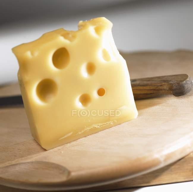 Morceau de fromage Emmental — Photo de stock