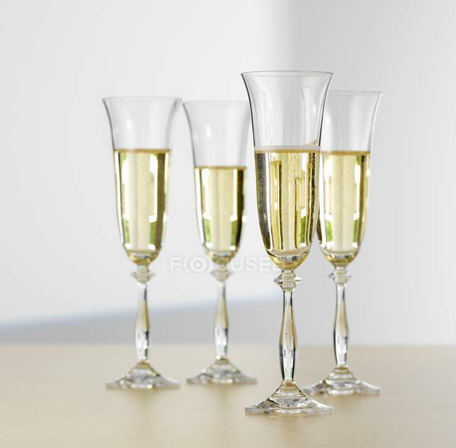 Glasses of sparkling wine — Stock Photo