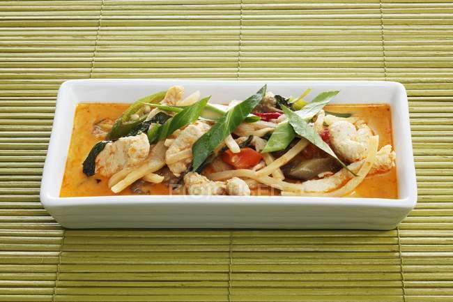Nahaufnahme von rotem Thai Truthahn-Curry — Stockfoto