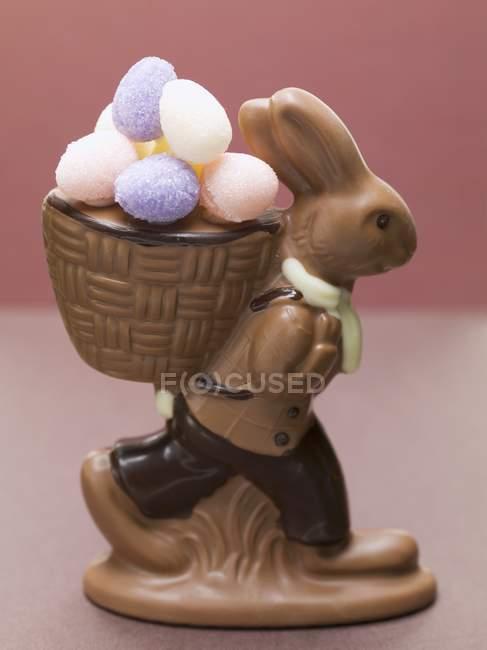 Шоколадный пасхальный кролик — стоковое фото
