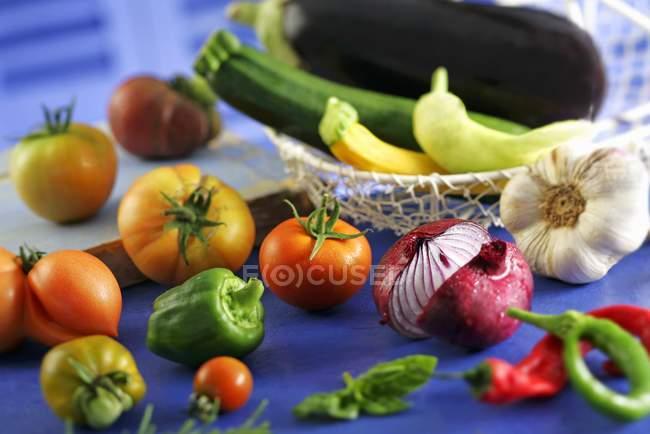 Свіжими овочами — стокове фото
