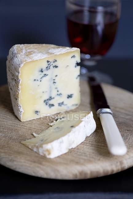 Piece of blue cheese — Stock Photo
