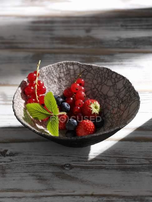 Bayas frescas mezcladas de verano - foto de stock