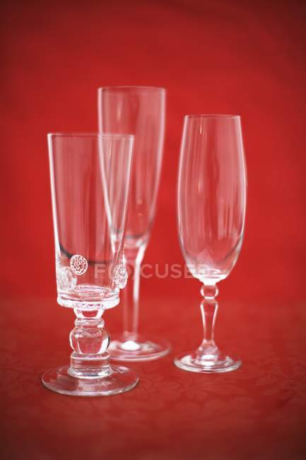 Sparkling wine glasses — Stock Photo