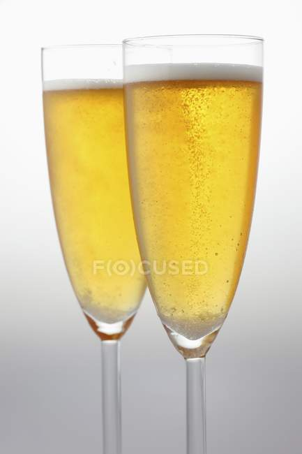 Glasses with sparkling wine — Stock Photo