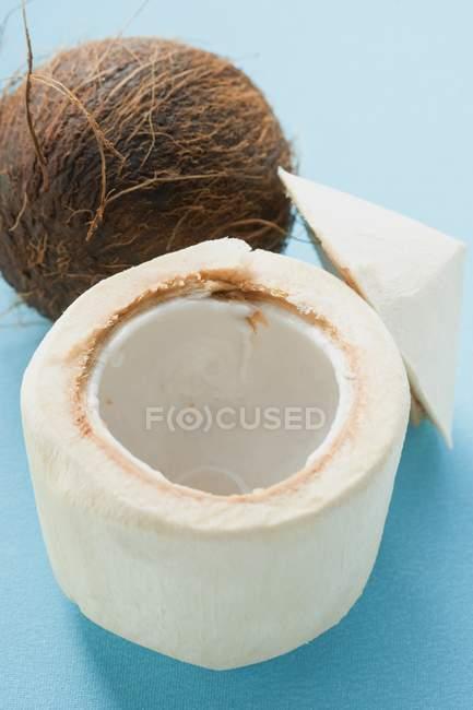 Мякоти свежего кокоса — стоковое фото