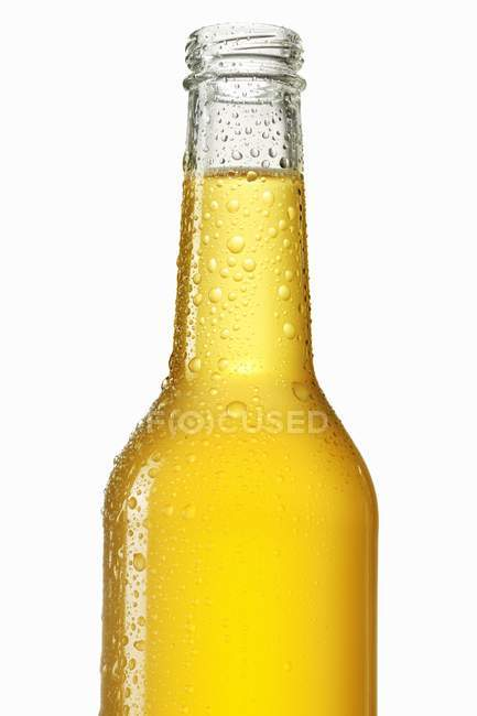 Fresh lemonade in bottle — Stock Photo