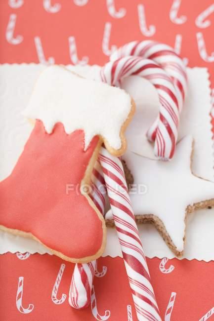 Canne étoile et cannes à bonbons — Photo de stock
