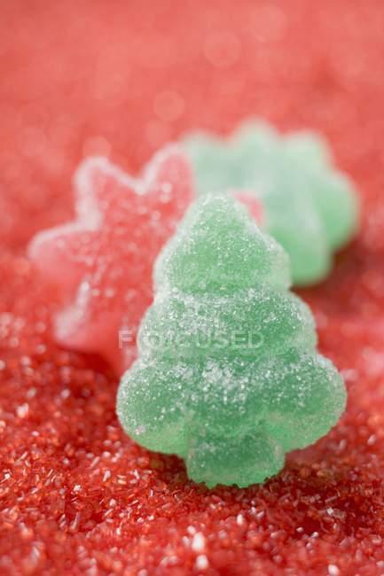 Конфеты с красным сахаром — стоковое фото