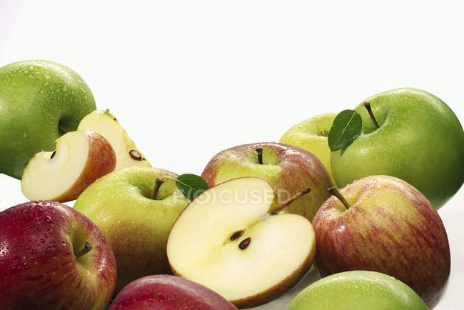 Various ripe apples — Stock Photo