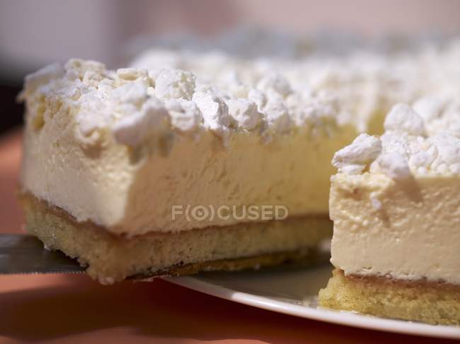 Käse-Sahne-Torte — Stockfoto