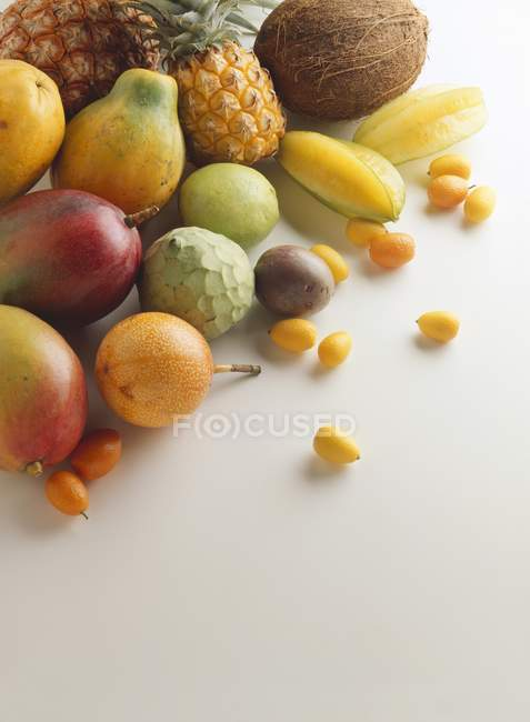 Still life with exotic fruits — Stock Photo