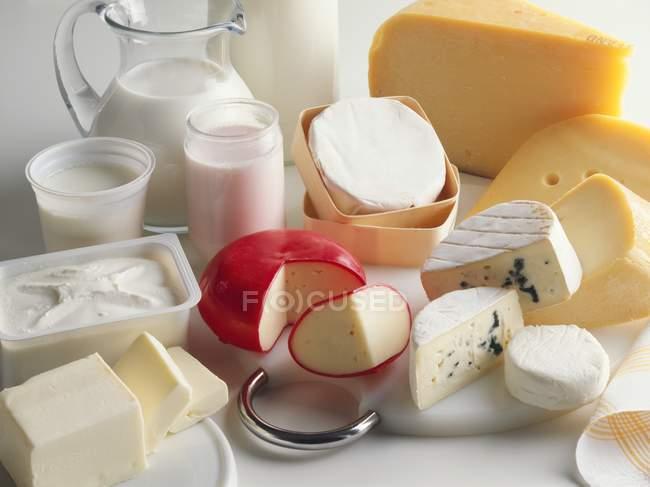 Натюрморт с молоком — стоковое фото