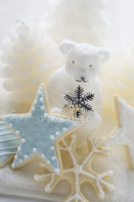 Печенье и полярный медведь — стоковое фото