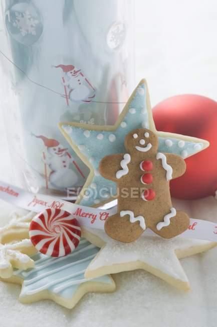 Decoração de Natal em branco — Fotografia de Stock