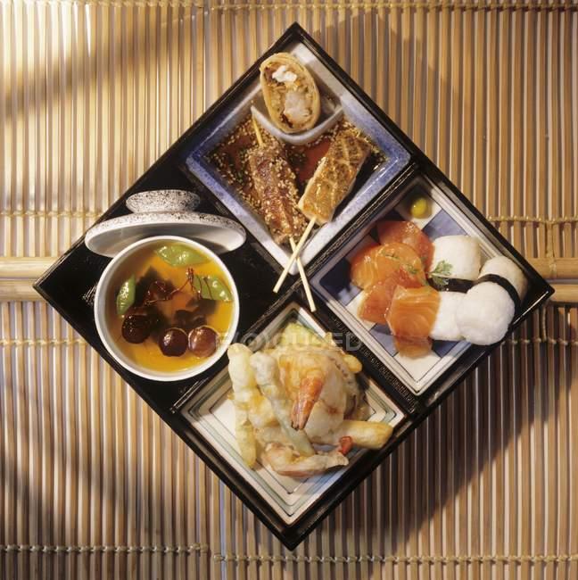 Boîte de plateau japonais — Photo de stock
