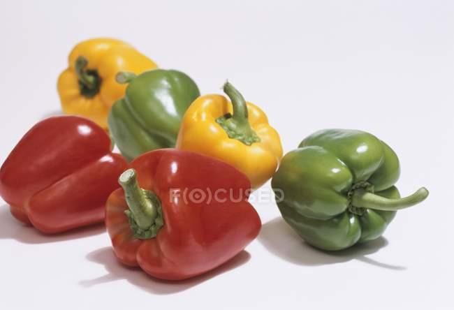Pimientos verdes y amarillos - foto de stock